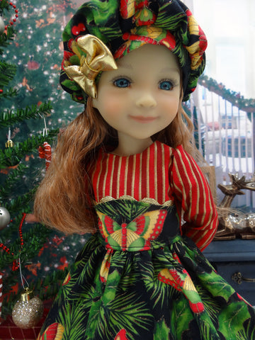 Christmas Butterfly - dress ensemble for Ruby Red Fashion Friends doll