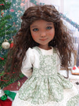 Christmas Greenery - dress & apron for Ruby Red Fashion Friends doll