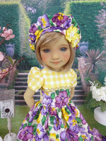 Country Pansy - dress and shoes for Ruby Red Fashion Friends doll