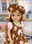 Cupcake Sweetie - dress with shoes for Ruby Red Fashion Friends doll