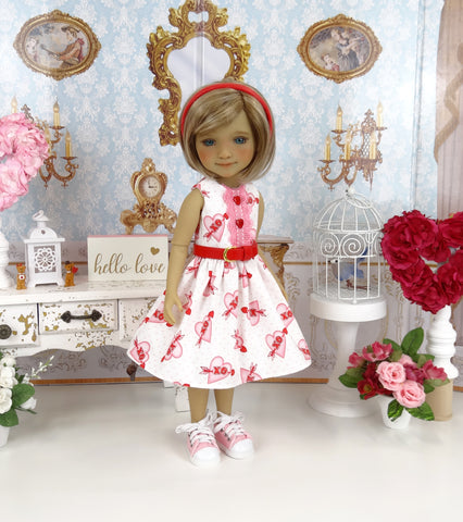 Cupid's Heart - dress with shoes for Ruby Red Fashion Friends doll