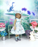 Curiouser & Curiouser - dress ensemble with shoes for Ruby Red Fashion Friends doll