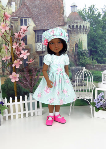 Delicate Spring - dress and shoes for Ruby Red Fashion Friends doll
