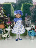 Delicate Swallows - dress and shoes for Ruby Red Fashion Friends doll