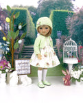 Easter Basket - dress and sweater with shoes for Ruby Red Fashion Friends doll
