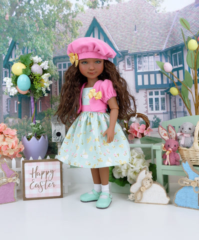 Enchanted Bunny - dress & jacket ensemble with shoes for Ruby Red Fashion Friends doll