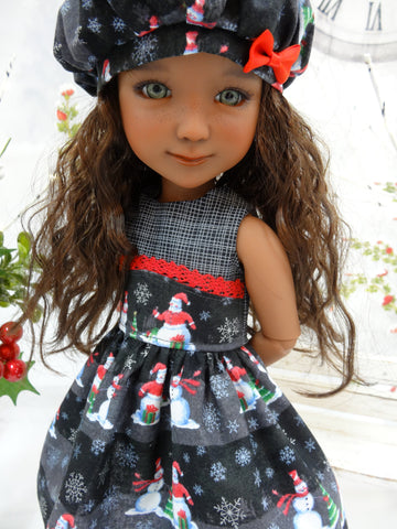 Evening Snowman - dress for Ruby Red Fashion Friends doll