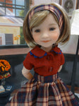 First Period Plaid - blouse & skirt for Ruby Red Fashion Friends doll