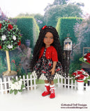 Floral Elegance - dress and sweater with boots for Ruby Red Fashion Friends doll