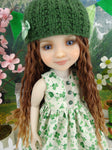 Four Leaf Clover - dress and sweater with shoes for Ruby Red Fashion Friends doll