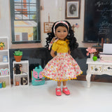 Friendship Flowers - blouse & skirt for Ruby Red Fashion Friends doll