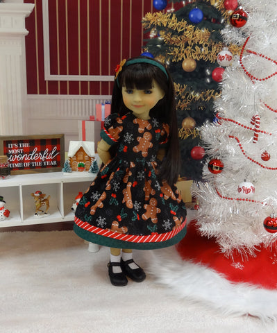 Gingerbread Man - dress ensemble with shoes for Ruby Red Fashion Friends doll