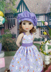 Gingham Bunny - dress & jacket ensemble with shoes for Ruby Red Fashion Friends doll