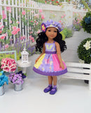 Glittering Butterfly - dress & jacket for Ruby Red Fashion Friends doll