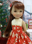 Golden Poinsettia - dress for Ruby Red Fashion Friends doll