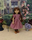 Grandma's Garden - dress & pinafore for Ruby Red Fashion Friends doll