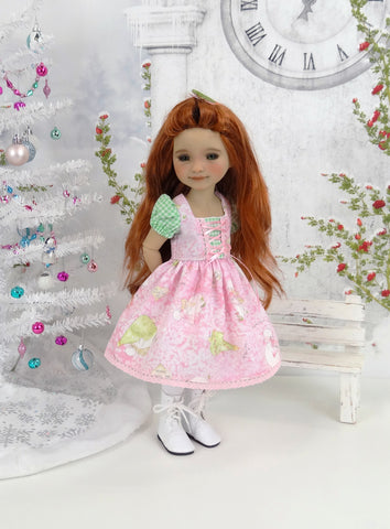 Greenhouse Snowman - dress ensemble with shoes for Ruby Red Fashion Friends doll