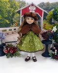Grove of Fall - dress & capelet for Ruby Red Fashion Friends doll