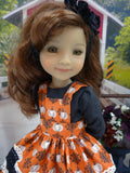 Heritage Pumpkin - dress & apron for Ruby Red Fashion Friends doll