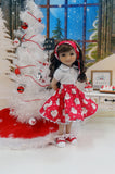 Ho Ho Ho - blouse & skirt for Ruby Red Fashion Friends doll