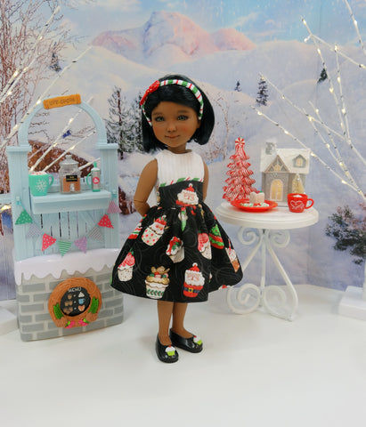 Holiday Cupcakes - dress with shoes for Ruby Red Fashion Friends doll