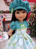 Holly Who Wreath - dress for Ruby Red Fashion Friends doll