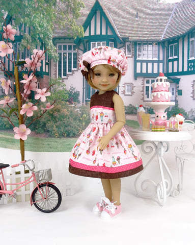 Ice Cream Scoop - dress with shoes for Ruby Red Fashion Friends doll