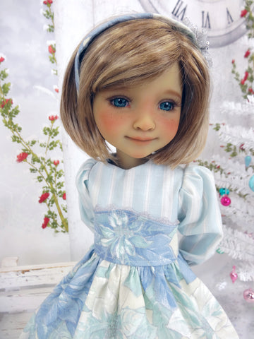 Icy Poinsettias - dress with shoes for Ruby Red Fashion Friends doll