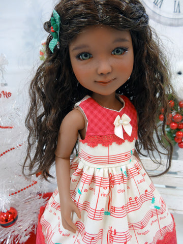 Jingle Bell Tune - dress for Ruby Red Fashion Friends doll