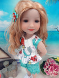 Little Mermaid - top & shorts for Ruby Red Fashion Friends doll