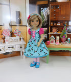 Merry & Bright - dress ensemble with shoes for Ruby Red Fashion Friends doll