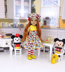 Mickey's Gang - dress ensemble with shoes for Ruby Red Fashion Friends doll
