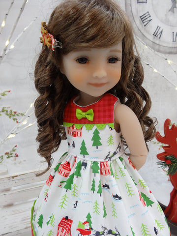 North Pole Village - dress for Ruby Red Fashion Friends doll