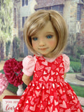 Paper Hearts - dress & pinafore with shoes for Ruby Red Fashion Friends doll