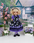 Perennial Garden - dress & pinafore with shoes for Ruby Red Fashion Friends doll