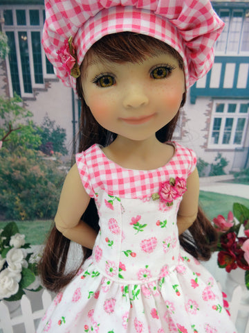 Pink Gingham Heart - dress for Ruby Red Fashion Friends doll