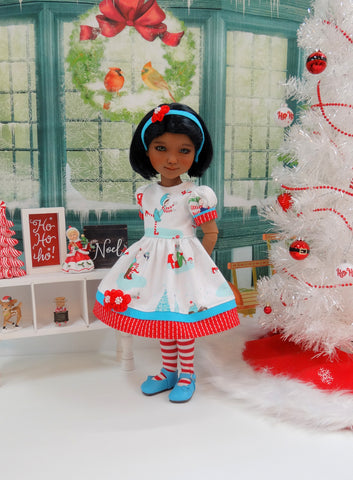 Pixie Noel - dress ensemble with shoes for Ruby Red Fashion Friends doll