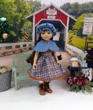 Plaid Outing - dress & capelet for Ruby Red Fashion Friends doll