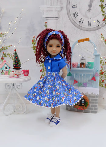 Playground Snowman - blouse & skirt with shoes for Ruby Red Fashion Friends doll