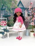 Pocket of Posies - dress and sweater with shoes for Ruby Red Fashion Friends doll