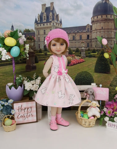 Precious Bunny - dress and hat with shoes for Ruby Red Fashion Friends doll