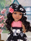 Pretty Panda - dress ensemble with shoes for Ruby Red Fashion Friends doll