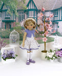 Purple Posy - dress & sweater with shoes for Ruby Red Fashion Friends doll