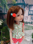 Quiet Meadow - top & shorts for Ruby Red Fashion Friends doll