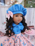 Rainy Day Blues - blouse & skirt for Ruby Red Fashion Friends doll
