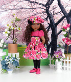 Roses in Bloom - dress and shoes for Ruby Red Fashion Friends doll