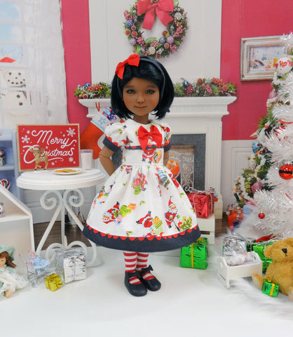 Santa Claus - dress ensemble with shoes for Ruby Red Fashion Friends doll