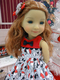 Santa Pups - dress with shoes for Ruby Red Fashion Friends doll