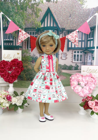 Sealed with a Kiss - dress with shoes for Ruby Red Fashion Friends doll