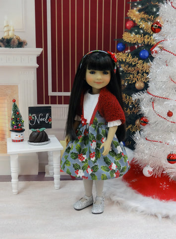 Shimming Holly - dress and shawl for Ruby Red Fashion Friends doll